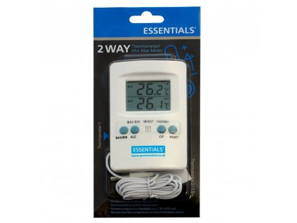Essentials Digital Max / Min Thermometer with External Probe