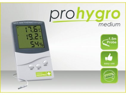 Digital Thermo Hygro meter MEDIUM with probe