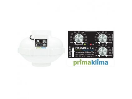 Fan Prima Klima PK150EC-TC 150mm, 1100 m3 / h - temperature control and min. speed, EC motor