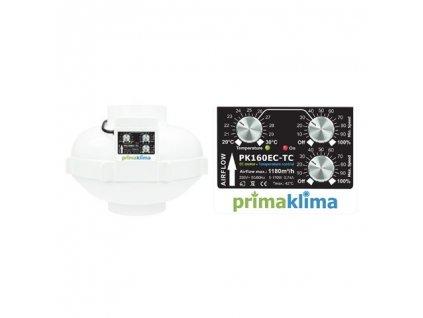 Fan Prima Klima PK160EC-TC 160mm, 1180 m3 / h - temperature control and min. speed, EC motor
