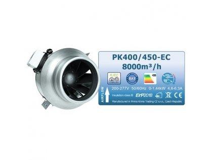 Fan Prima Klima BLUE LINE PK400/450-EC mm, 8000 m3/h + EC motor