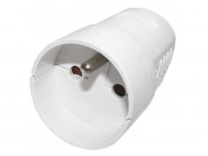 Socket for extension cord, white