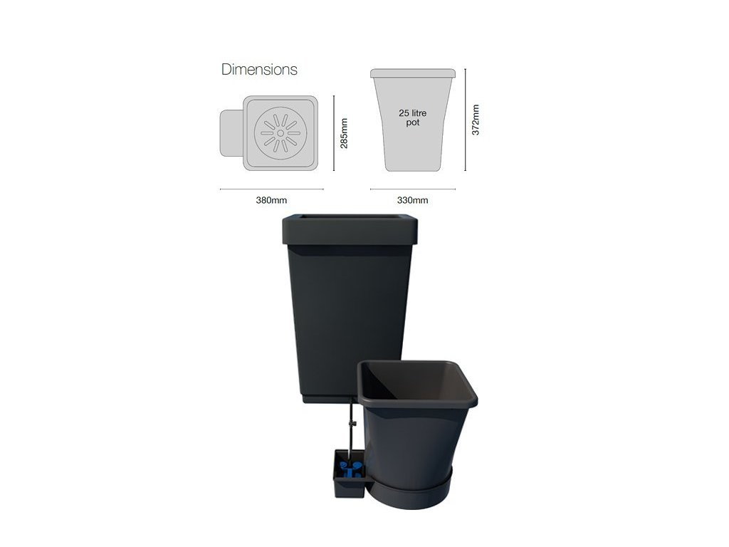 Autopot 1Pot XL Module with 1 Flowerpot and 47L Plastic Tank