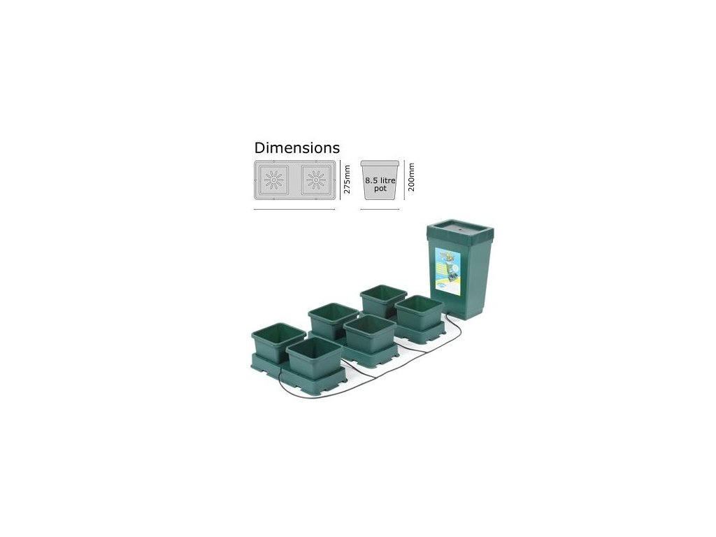 Autopot Easy2grow Kit with 6 Flowerpots and 47L Plastic Tank
