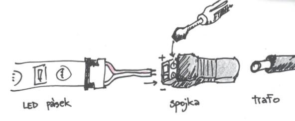 jak spojit dva LED pásky