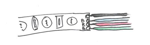 správné zapojení RGB LED pásku