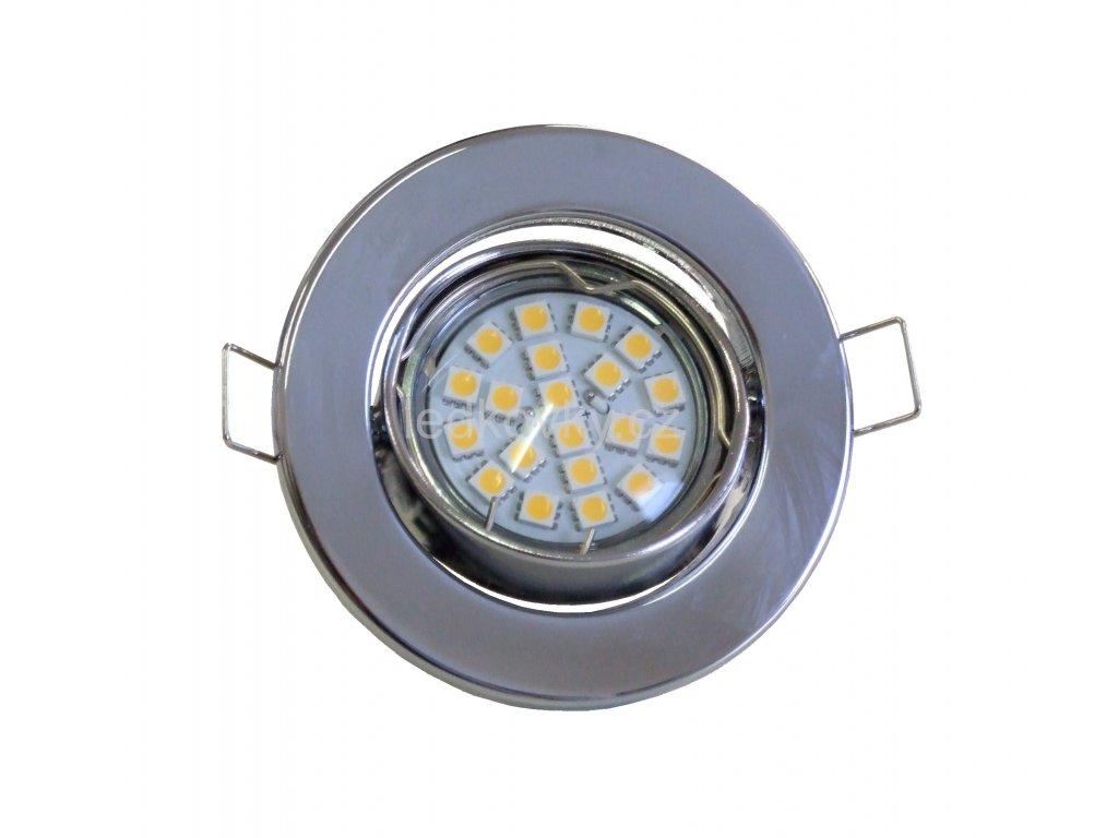 Podhledové svítidlo PR65 výklopné, chrom