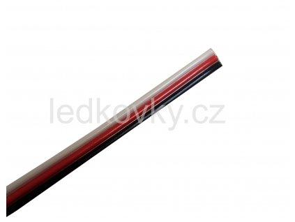 Plochý W WW kabel 3x0,25mm2 černá, červená, bílá