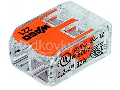 WAGO 221 412 svorka s páčkou 2 x 4mm2