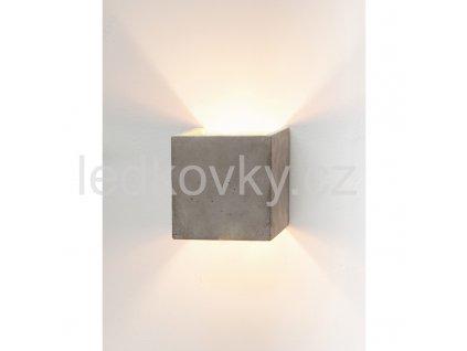 NS GANTLights, světlý beton + stříbrný vnitřek