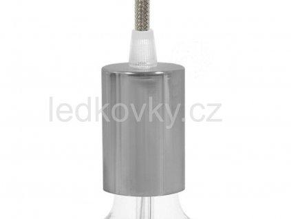 Metalická objímka E27 stříbrná