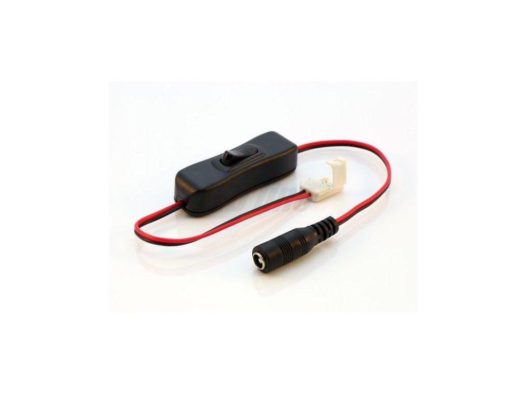 Konektor s vypínačem pro LED pásky o šířce 8mm, 2,1/5,5mm