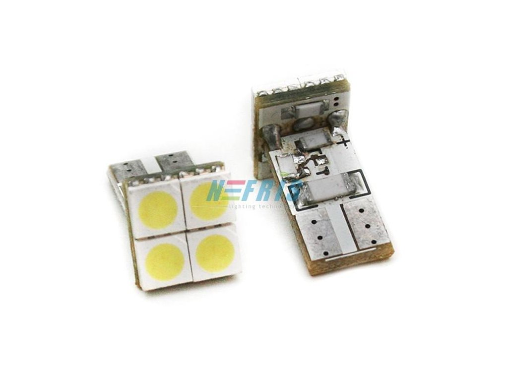 LED autožárovka  LED W5W T10 4 SMD 5050 CAN BUS FRONT