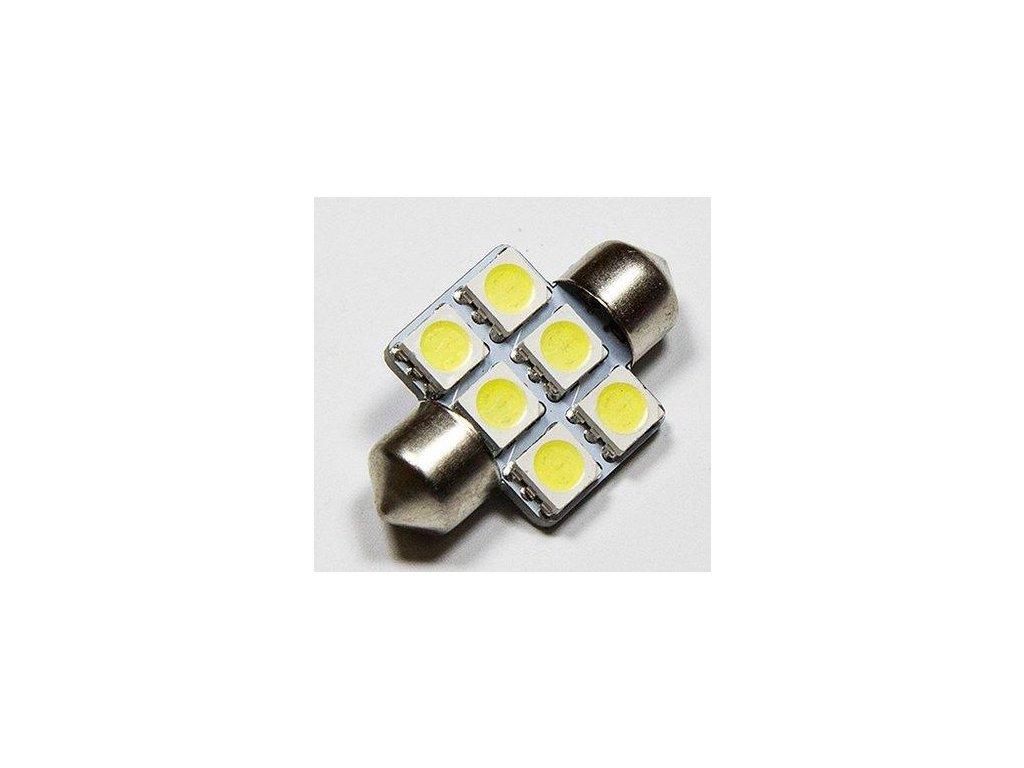 LED autožárovka LED C5W 6 SMD 5050 31mm