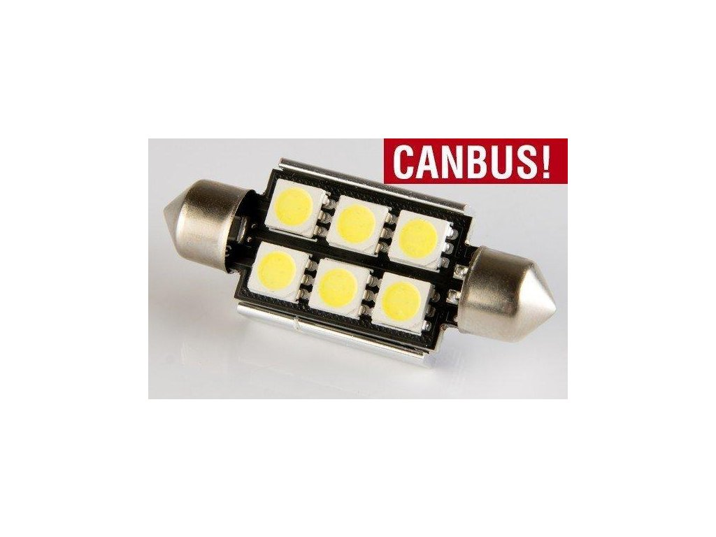 LED autožárovka LED C5W 6 SMD 5050 CAN BUS 36mm