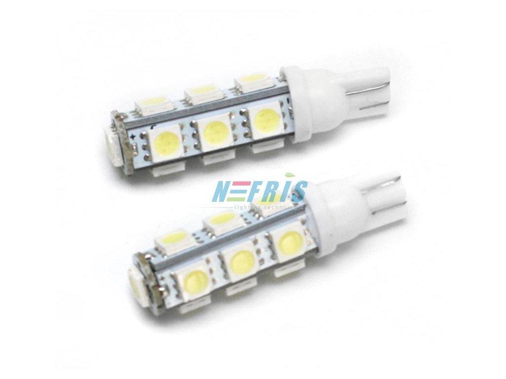 LED autožárovka LED T10 W5W 13 SMD 5050