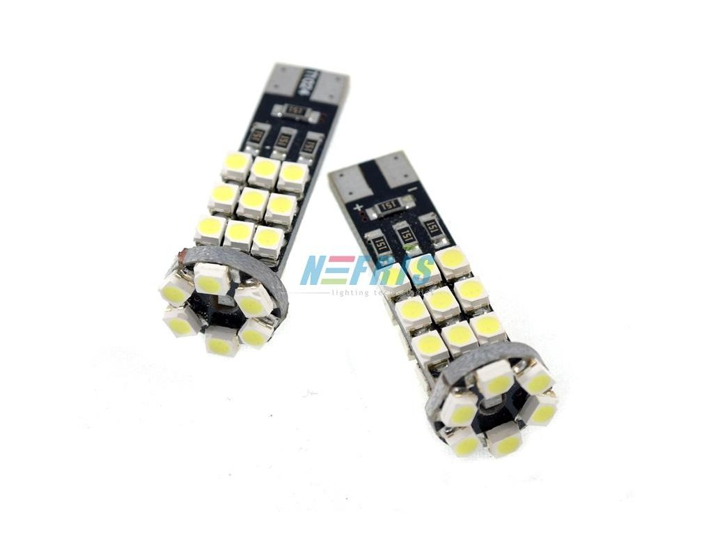 LED autožárovka LED T10 W5W 24 SMD 1210 CAN BUS 2