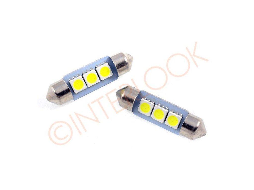 Interlook LED autožárovka LED C5W 3 SMD 5050 42mm