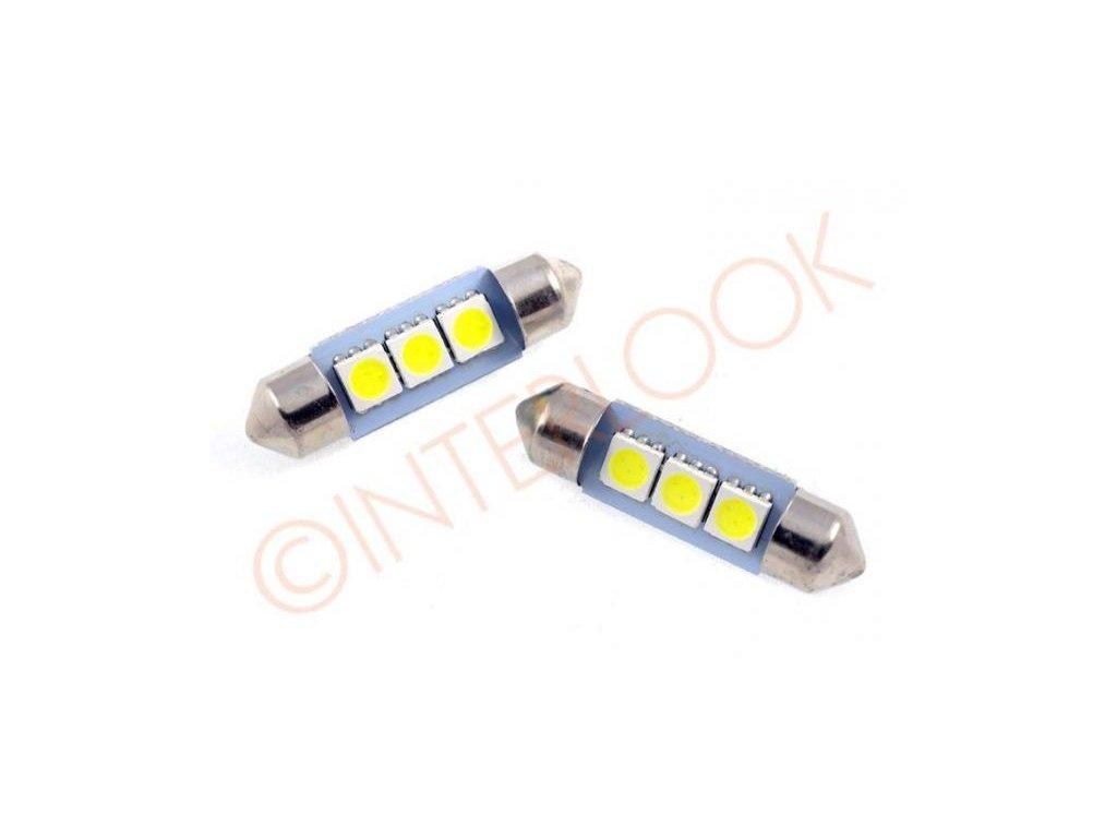 Interlook LED autožárovka LED C5W 3 SMD 5050 39mm