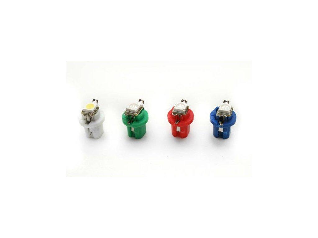 LED autožárovka LED T5 R5 1 SMD 5050 modrá