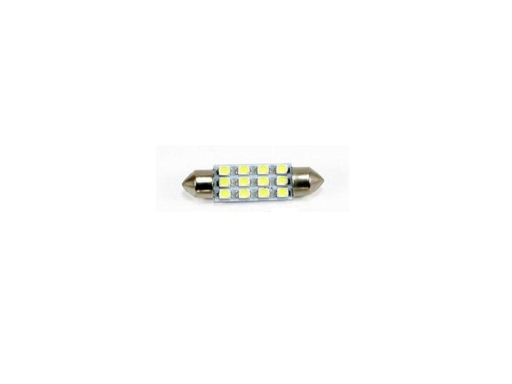 LED autožárovka LED C5W 12 SMD 1210 42mm