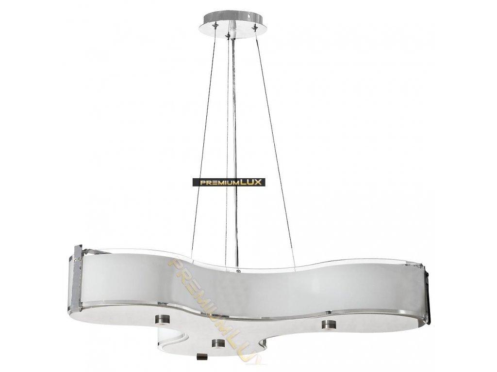 Lampada Designe Stropní závěsné svítidlo MARGHERITA 550x1500mm 3xE27 sklo, kov