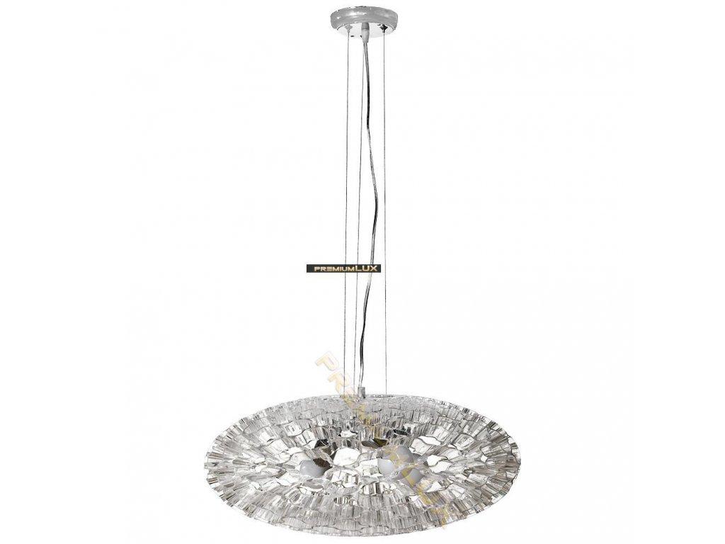 Lampada Designe Stropní závěsné svítidlo LOLANDA 580x1500mm 3xE27 transparentní sklo, kov