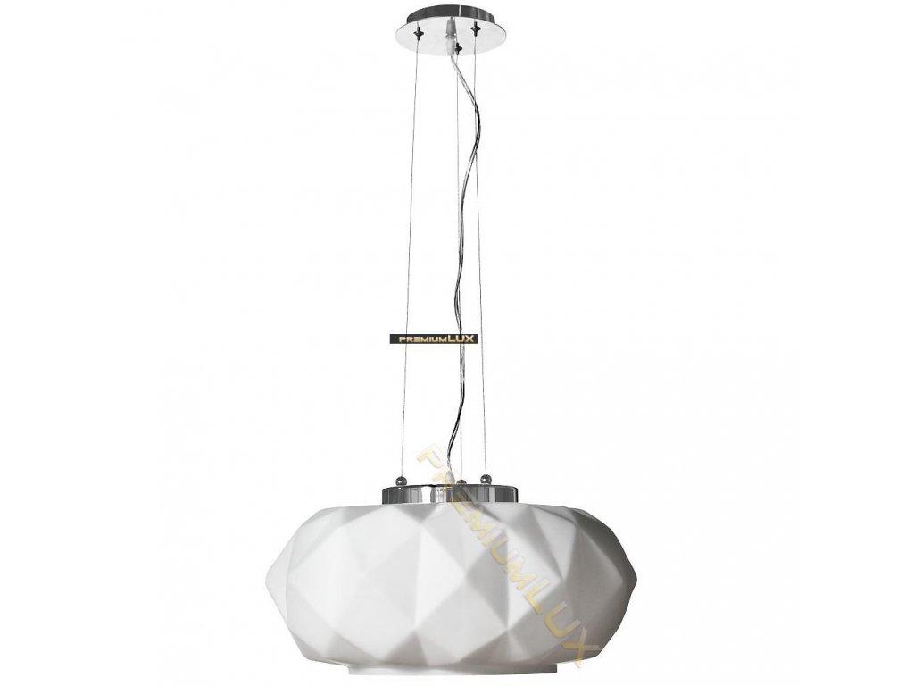 Lampada Designe Stropní závěsné svítidlo ELENA 500x1500mm 1xE27 bílé sklo, kov