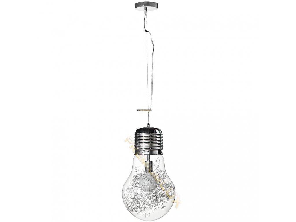 Lampada Designe Stropní závěsné svítidlo CLOTILDE 300x1500mm 1xE27 transparentní sklo, kov