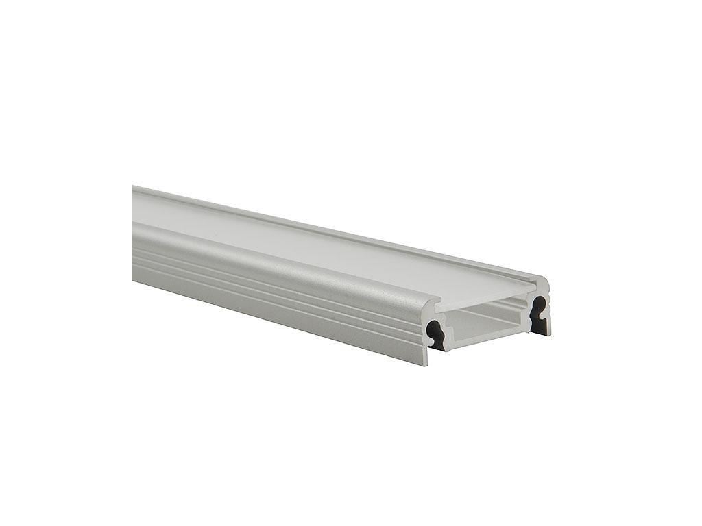 Kanlux 19163 PROFILO D lišty k LED páskům,10 ks po 1m v balení, bez difuzoru