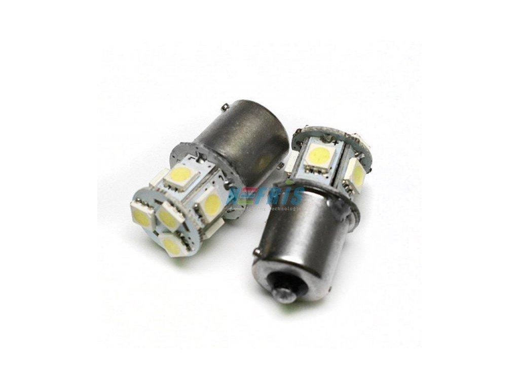 Interlook LED autožárovka LED BAU15S 8 SMD 5050 Py21W Oranžová