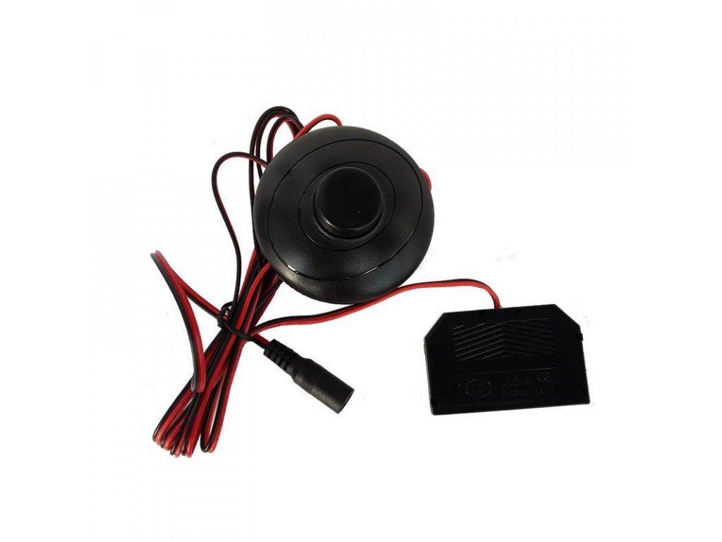 PremiumLED Konektor s nášlapným vypínačem a rozbočovačem pro LED pásky a klipy, 2,1/5,5mm - mini rychlospojka