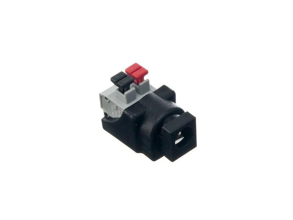 PremiumLED Konektor napájecí DC 2,1/5,5mm se zasouvací svorkovnicí, samice