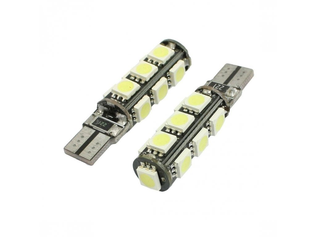 Interlook LED autožárovka LED T10 W5W 13 SMD 5050 CAN BUS