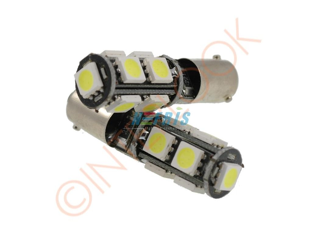 Interlook LED auto žárovka LED BA9S 9 SMD 5050 T4W CAN BUS