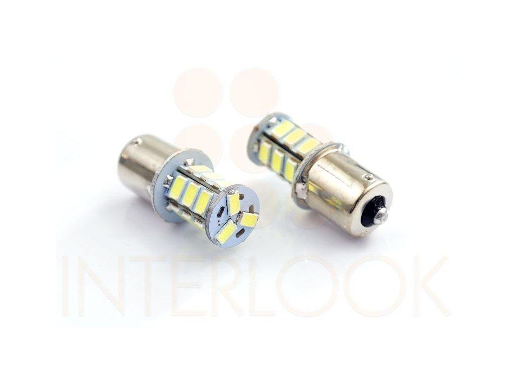 Interlook LED auto žárovka BA15S 18 SMD 5630 P21W