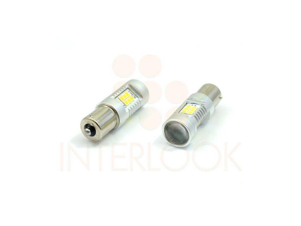 Interlook LED autožárovka BA15S 21 SMD 2835 500lm Py21W