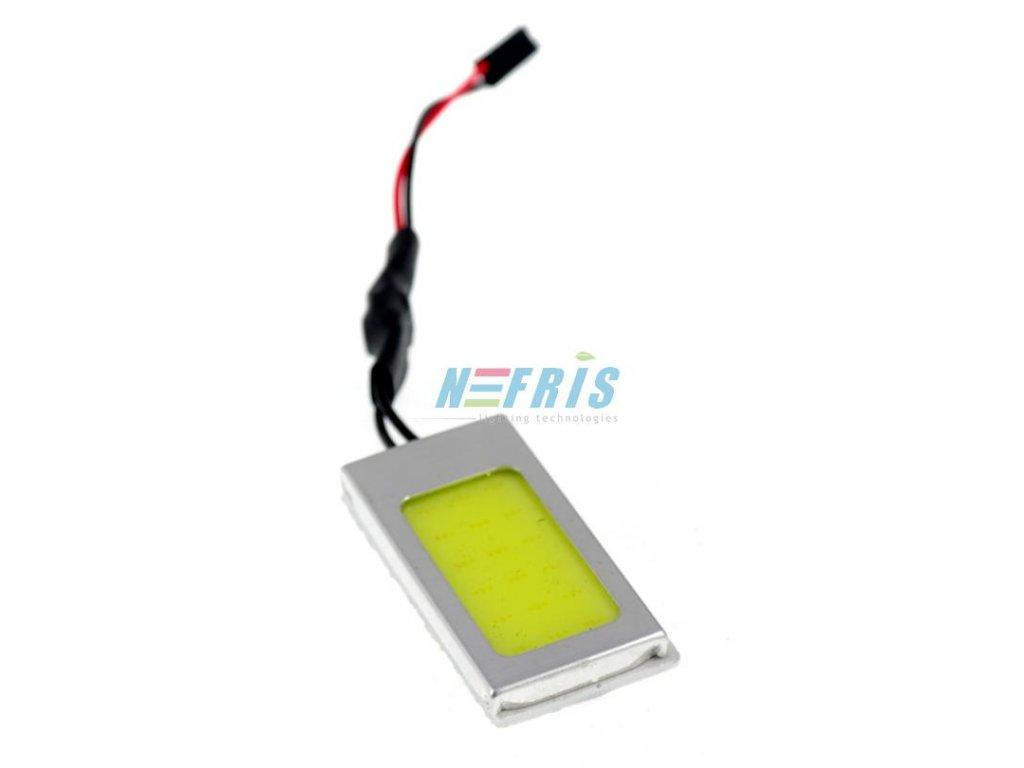 Panel LED COB 18-chip 3x6 + adaptéry C5W a W5W