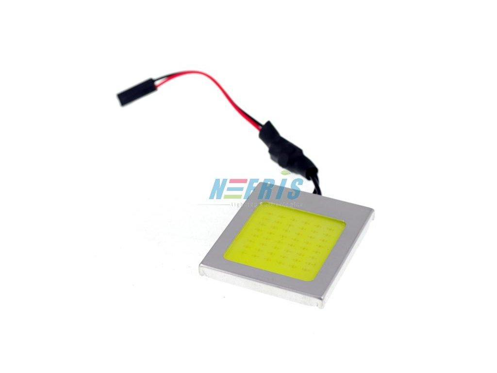 Panel LED COB 48-chip 6x8 + adaptéry C5W a W5W