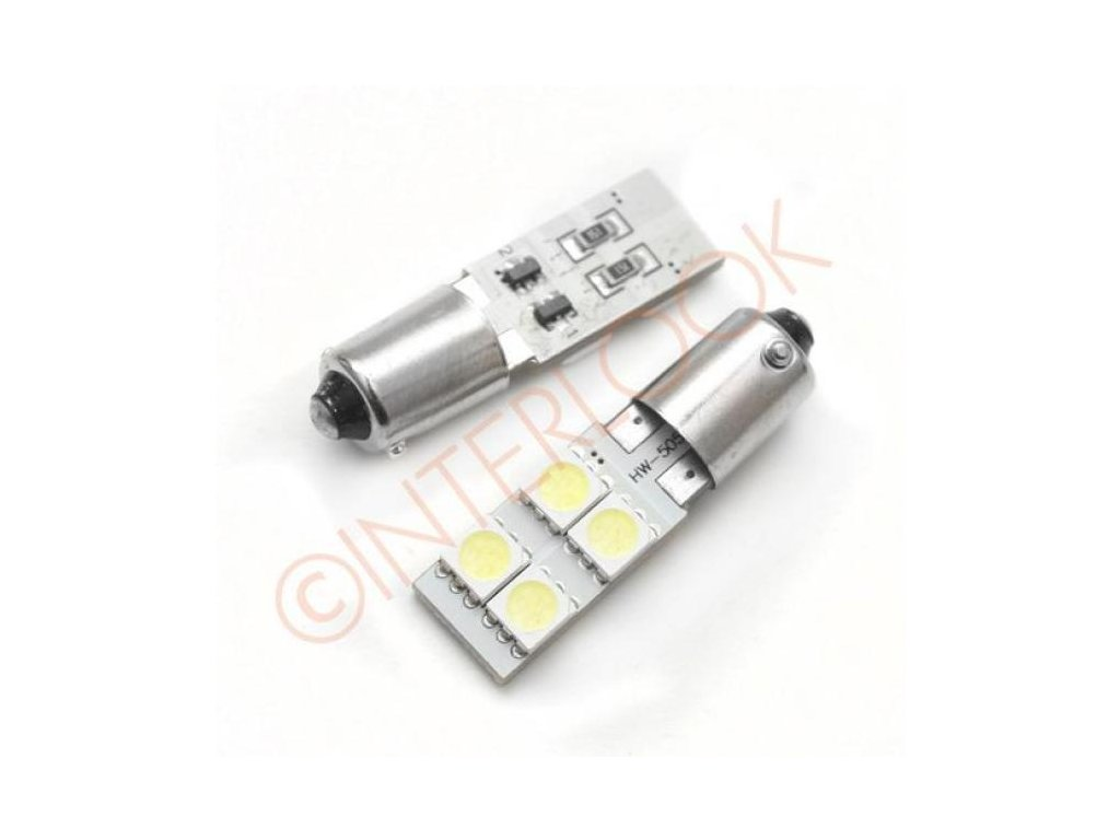 Interlook LED autožárovka LED BA9S 5W CREE HIGH POWER H6W