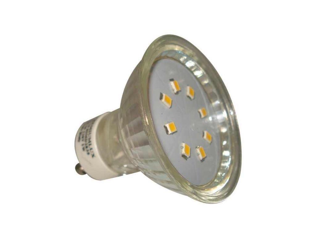 PremiumLED LED žárovka 1W 8xSMD2835 GU10 90lm Studená