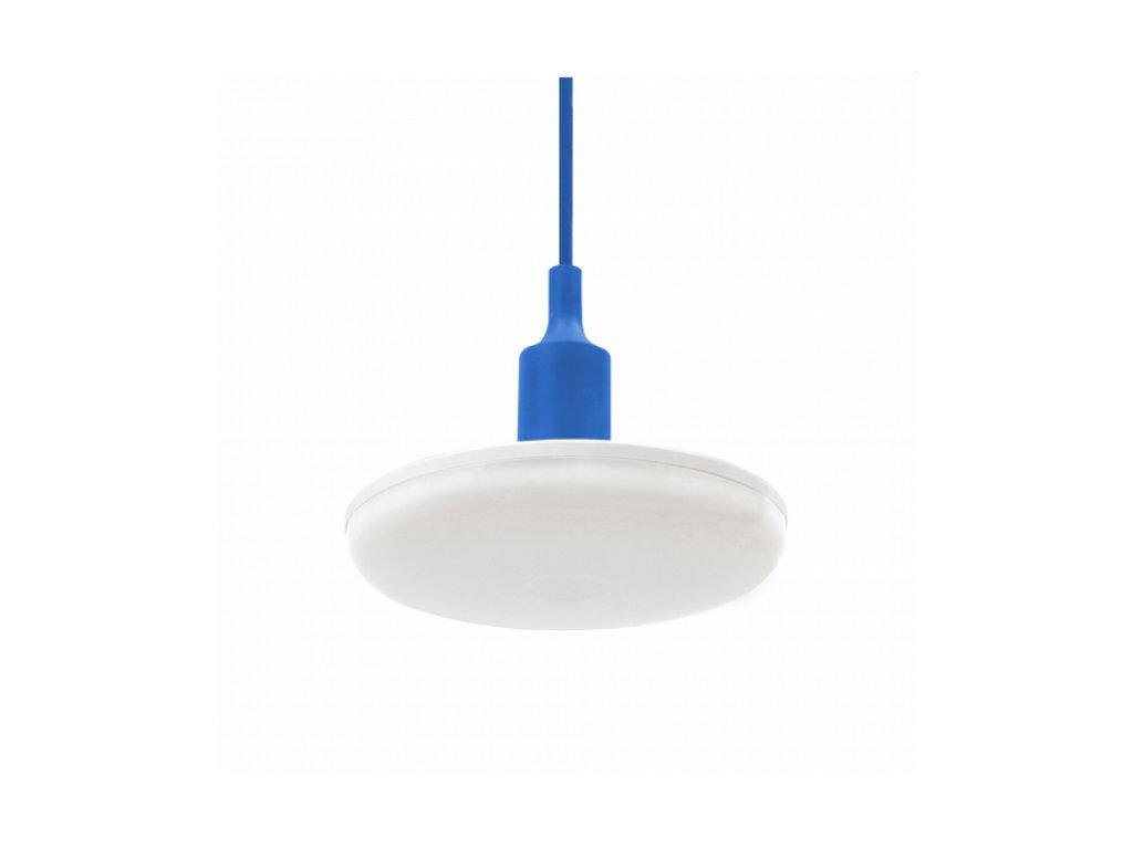 Spectrum LED závěsné svítidlo ALBENE ECO 24W, MODRÝ ZÁVĚS, Teplá