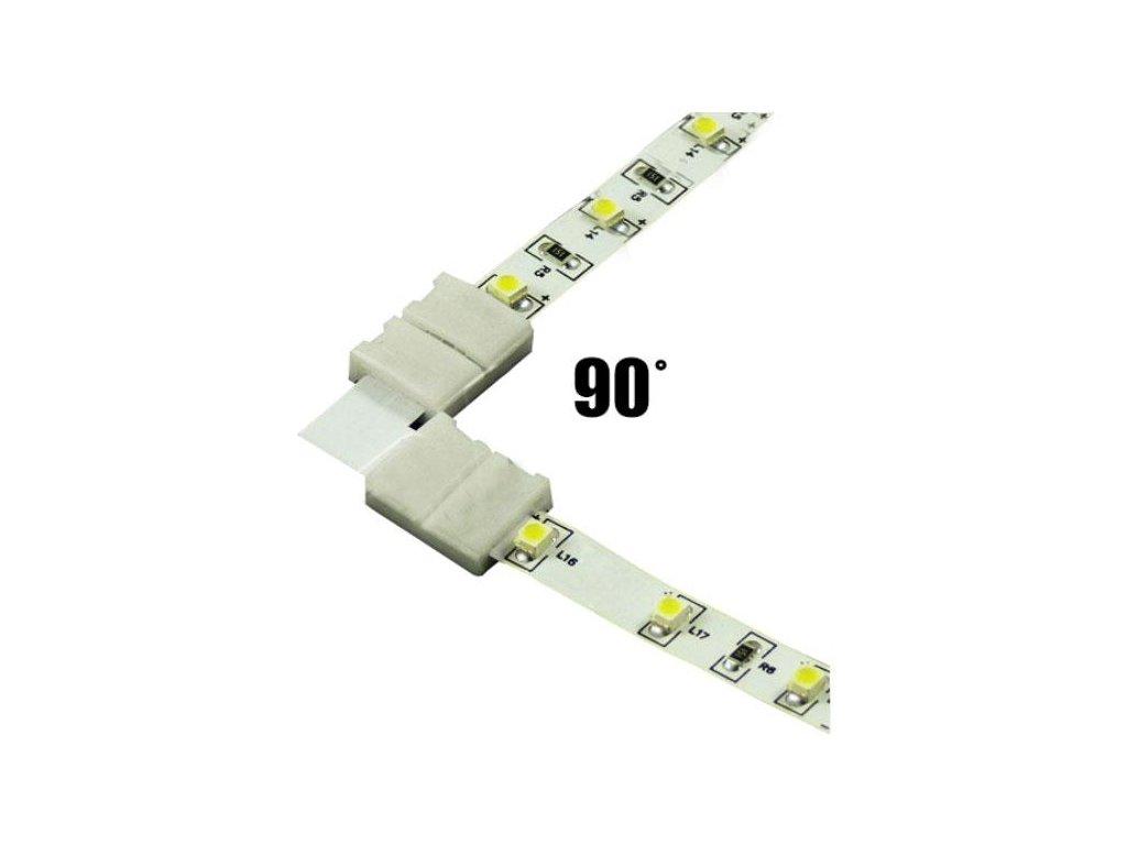 Spojka rohová KLIK pro LED pásky o šířce 10mm