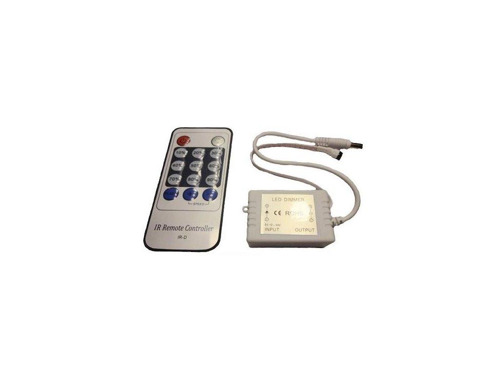 Stmívač pro LED pásky a žárovky, dálkové IR ovládání , 6A 72W