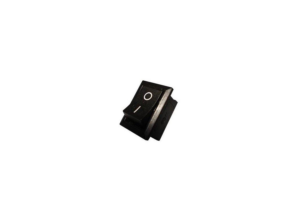 Zápustný vypínač obdélníkový - černý