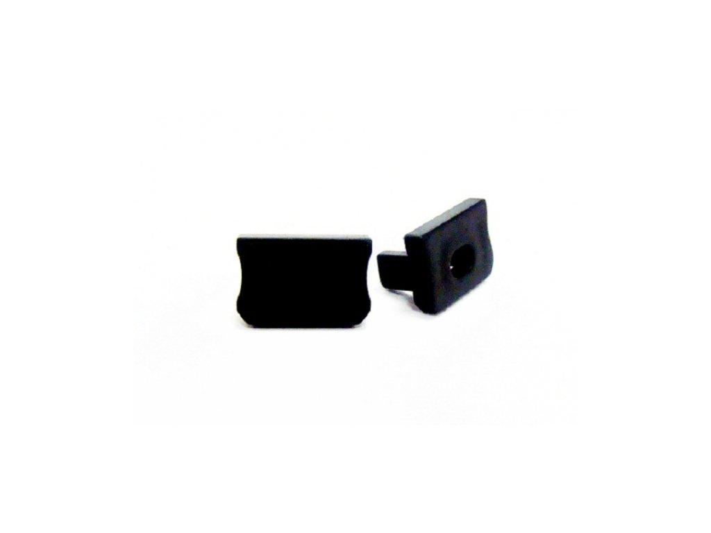 Krytka koncová s otvorem pro profil LUMINES X, černá
