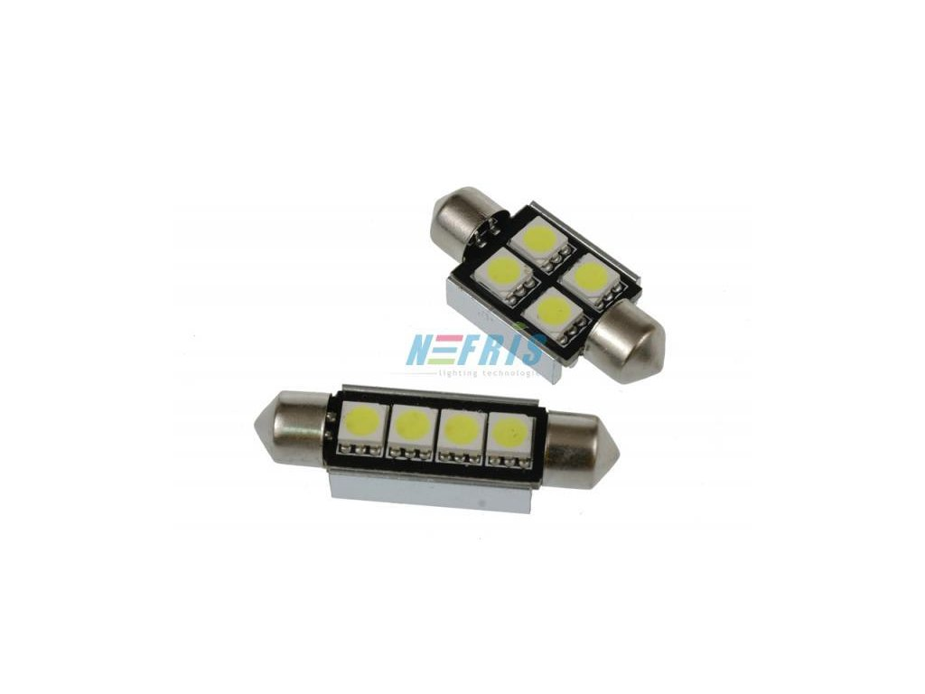 Interlook LED autožárovka C5W 4 SMD 5050 CAN BUS 39mm