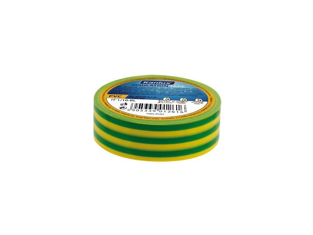 Kanlux 01277 IT-1/20-Y/GN - Izolační páska