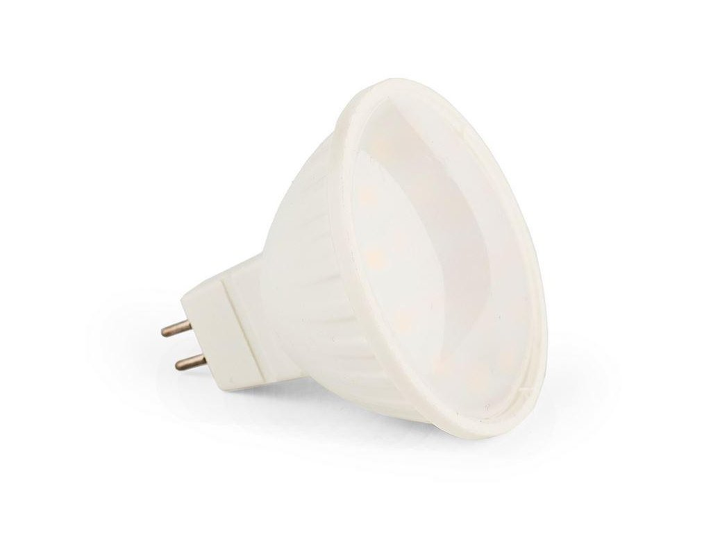 Ledspace LED žárovka 7W 18xSMD GU5.3 MR16 220V 630lm Teplá