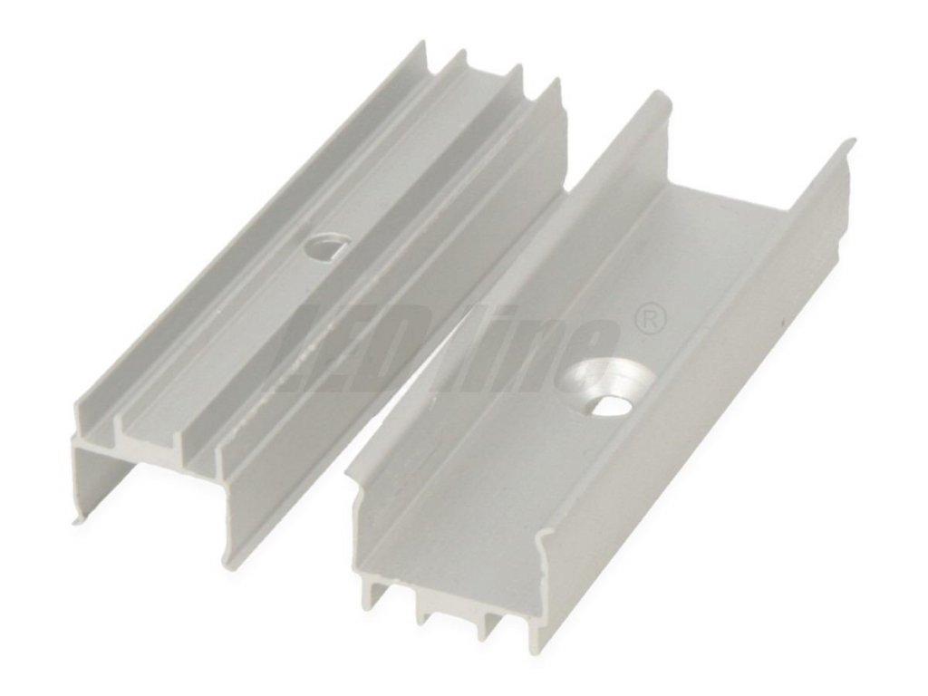 Montážní ALU úchyt pro vodotěsné LED pásky š.10mm